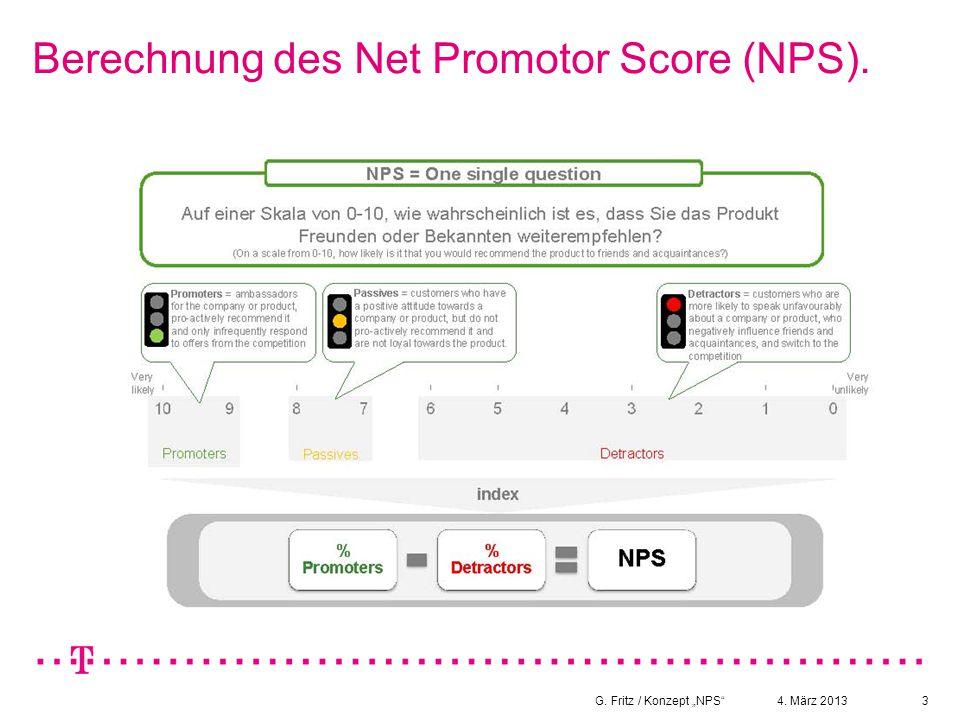 Berechnung des Net Promotor Score (NPS).