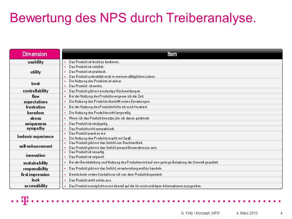 Bewertung des NPS durch Treiberanalyse.