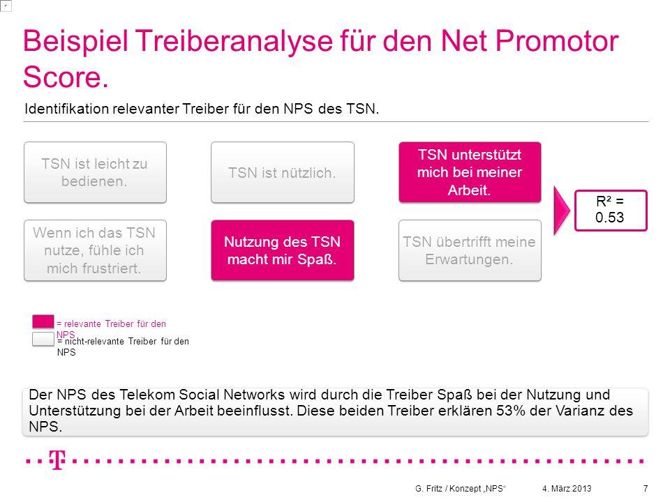 Beispiel Treiberanalyse für den Net Promotor Score.