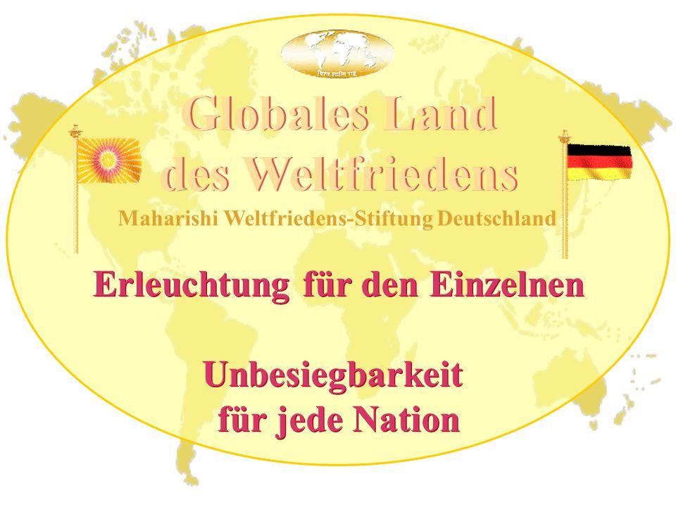 Globales Land des Weltfriedens Erleuchtung für den Einzelnen