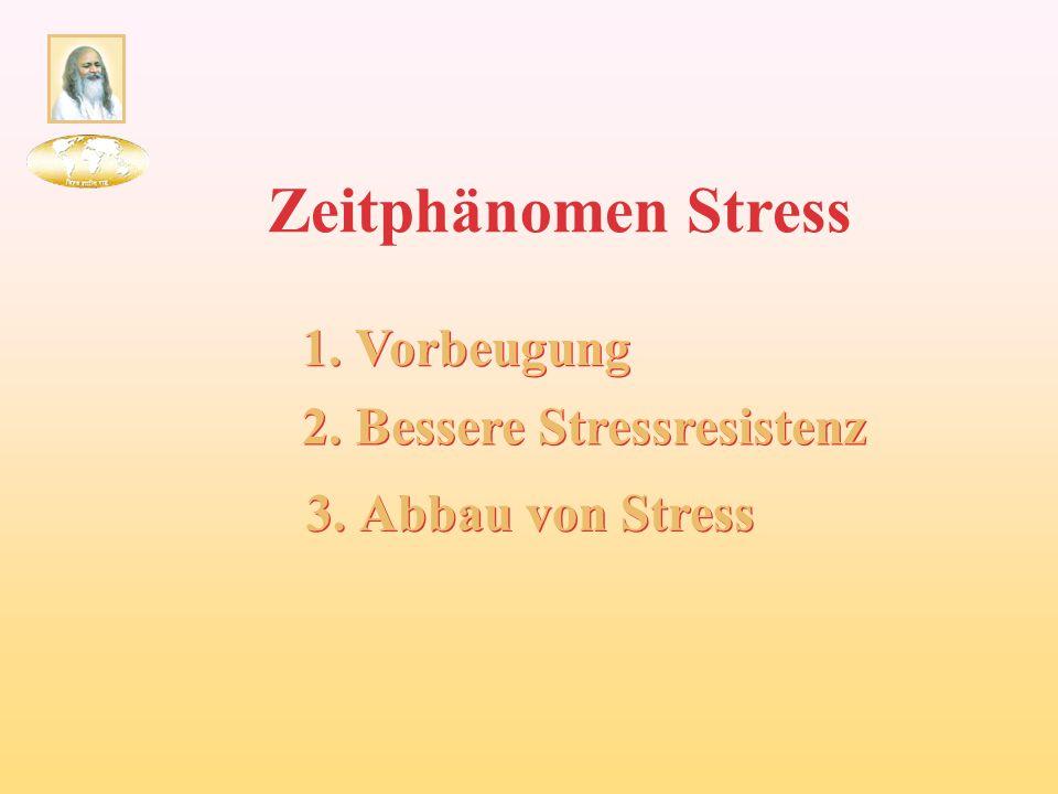 Zeitphänomen Stress 1. Vorbeugung 2. Bessere Stressresistenz