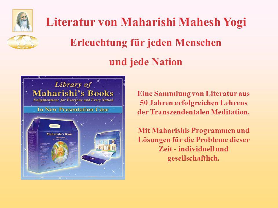 Literatur von Maharishi Mahesh Yogi Erleuchtung für jeden Menschen