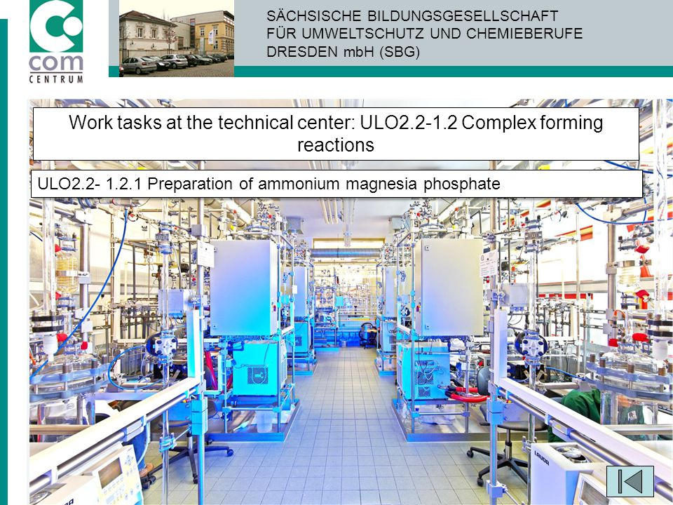 Work tasks at the technical center: ULO2. 2-1