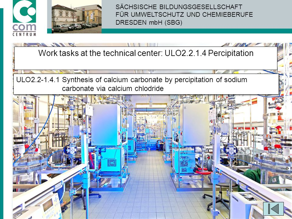 Work tasks at the technical center: ULO2.2.1.4 Percipitation