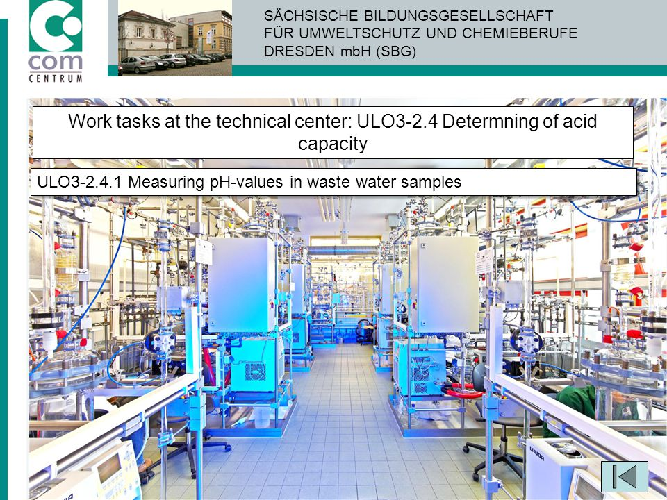 Work tasks at the technical center: ULO3-2