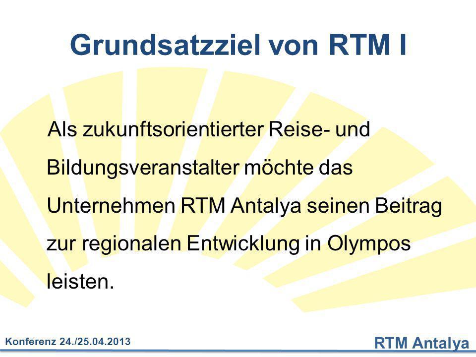Grundsatzziel von RTM I