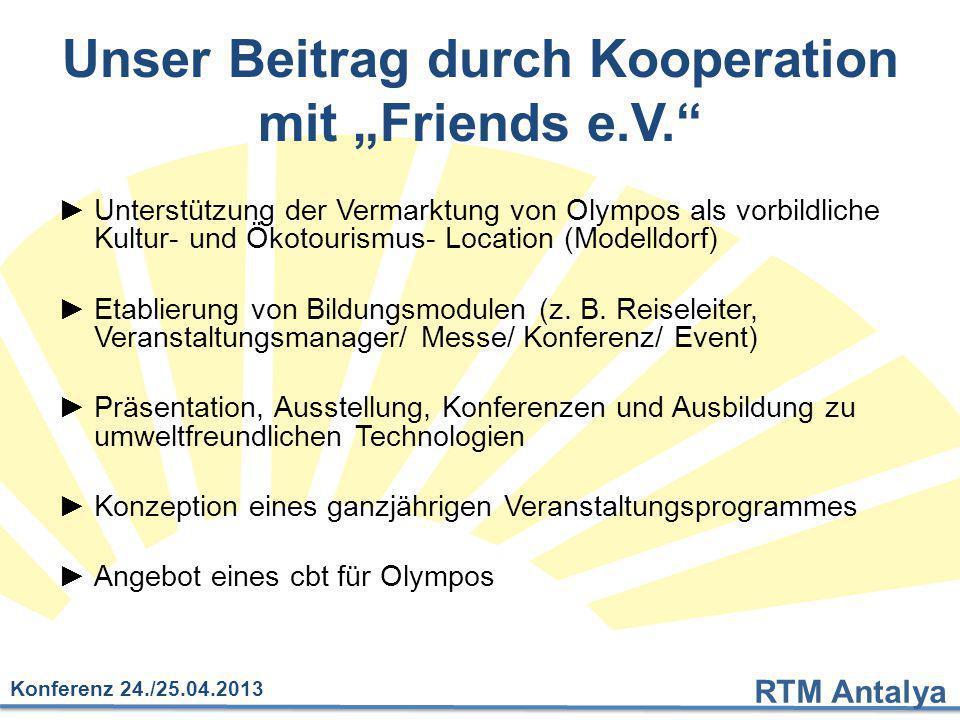 """Unser Beitrag durch Kooperation mit """"Friends e.V."""