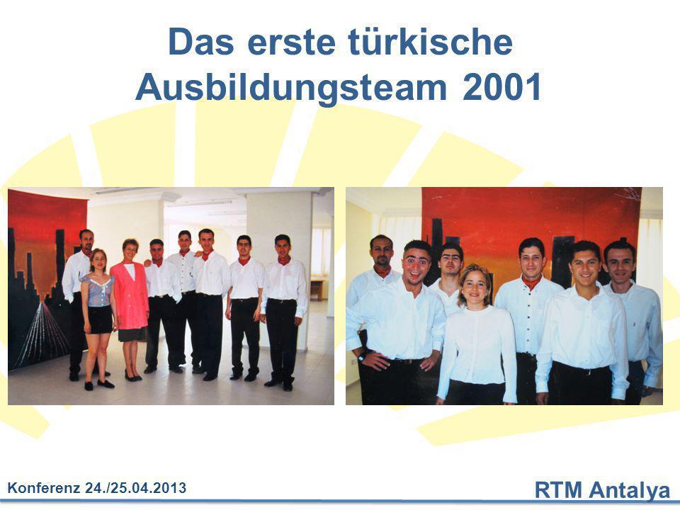 Das erste türkische Ausbildungsteam 2001