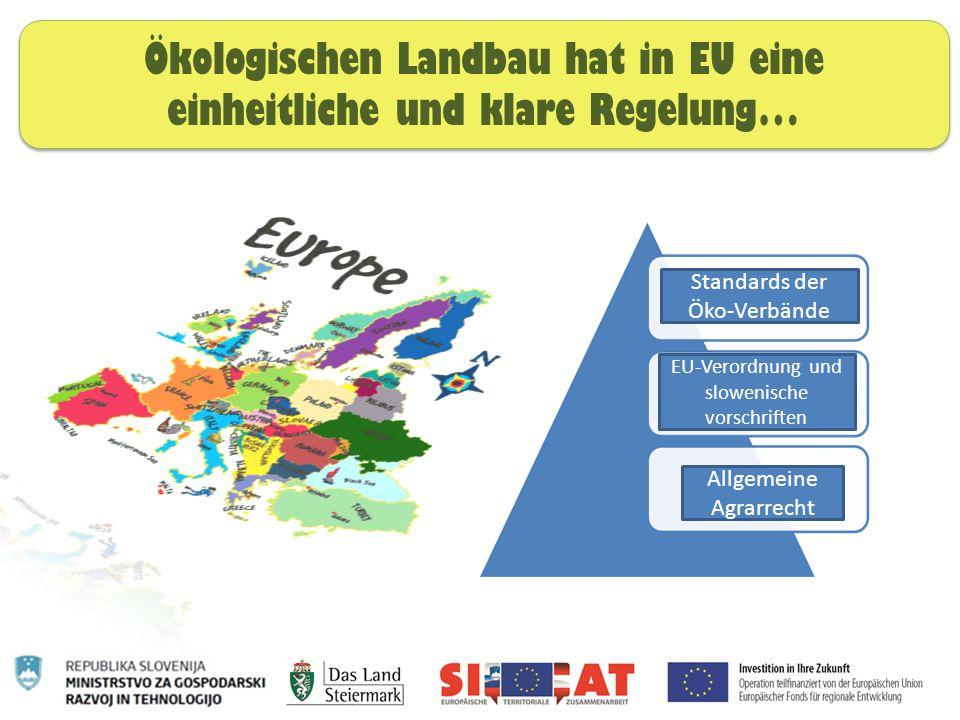Ökologischen Landbau hat in EU eine einheitliche und klare Regelung…