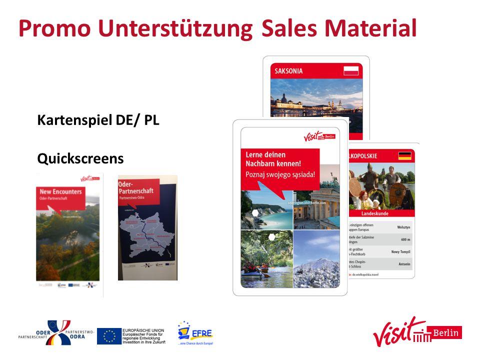 Promo Unterstützung Sales Material