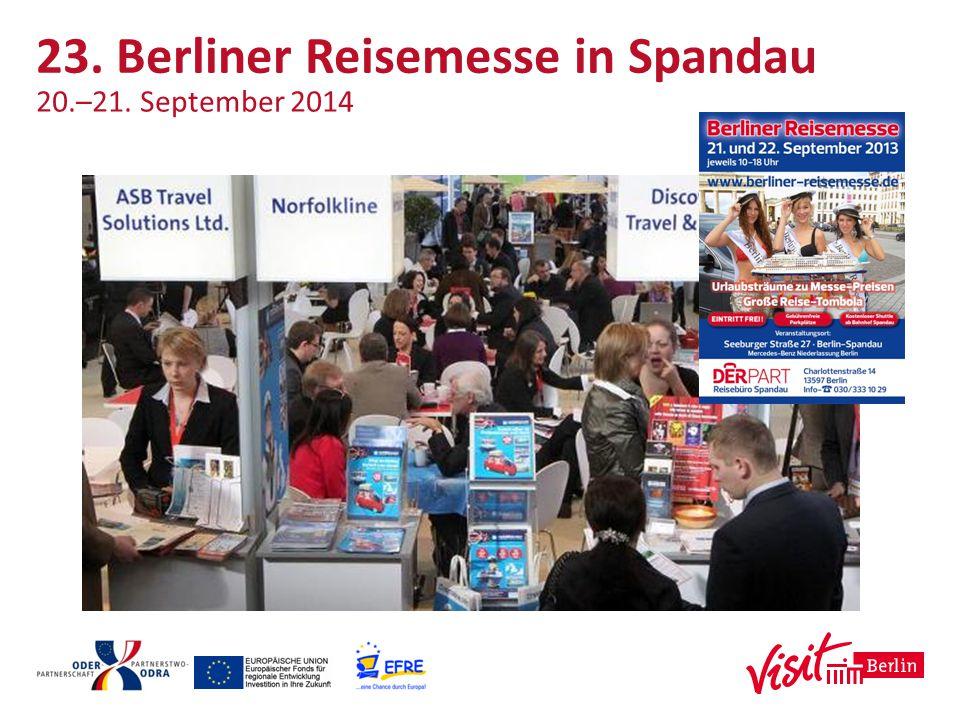 23. Berliner Reisemesse in Spandau