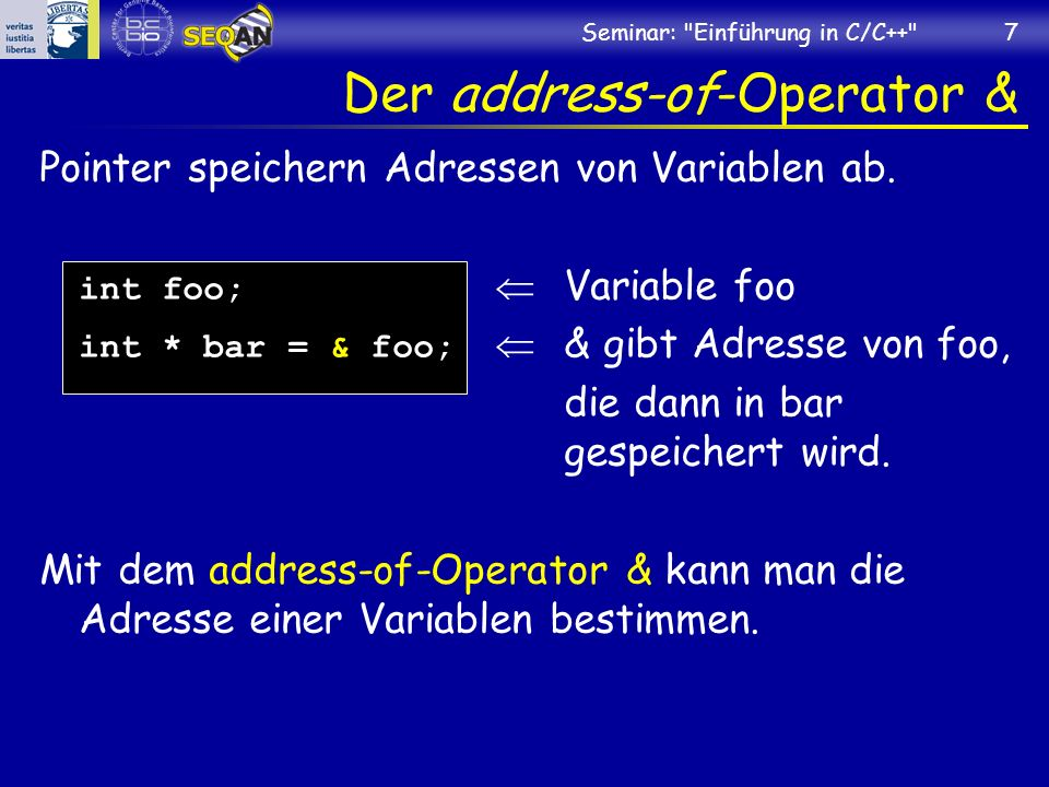 Der address-of-Operator &