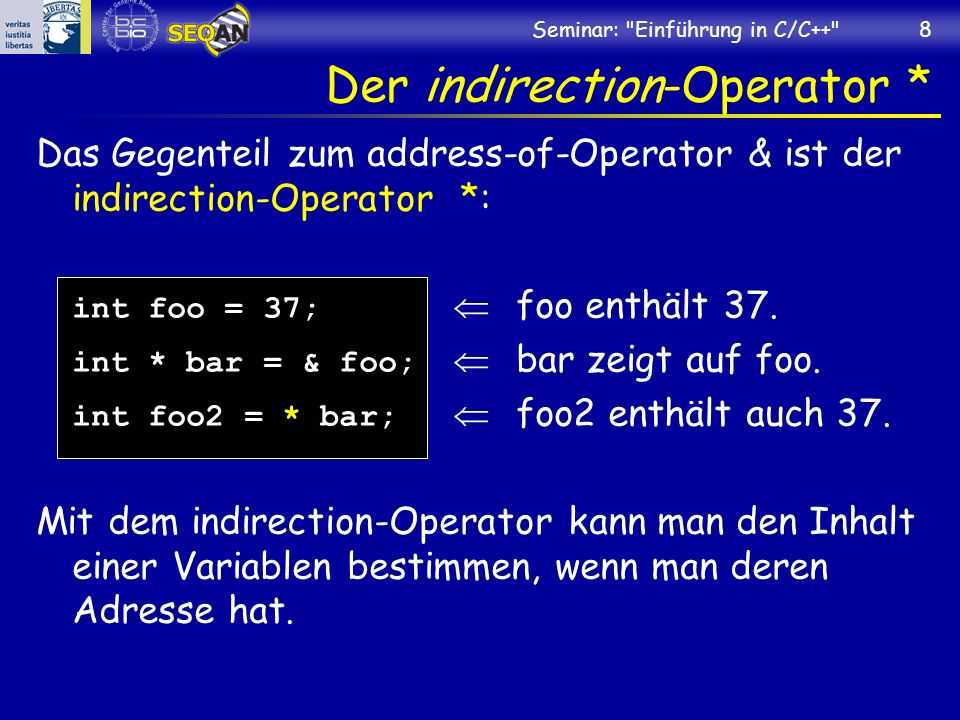 Der indirection-Operator *