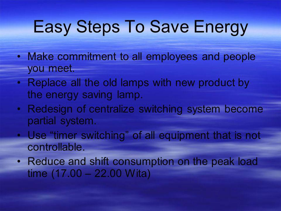 Easy Steps To Save Energy