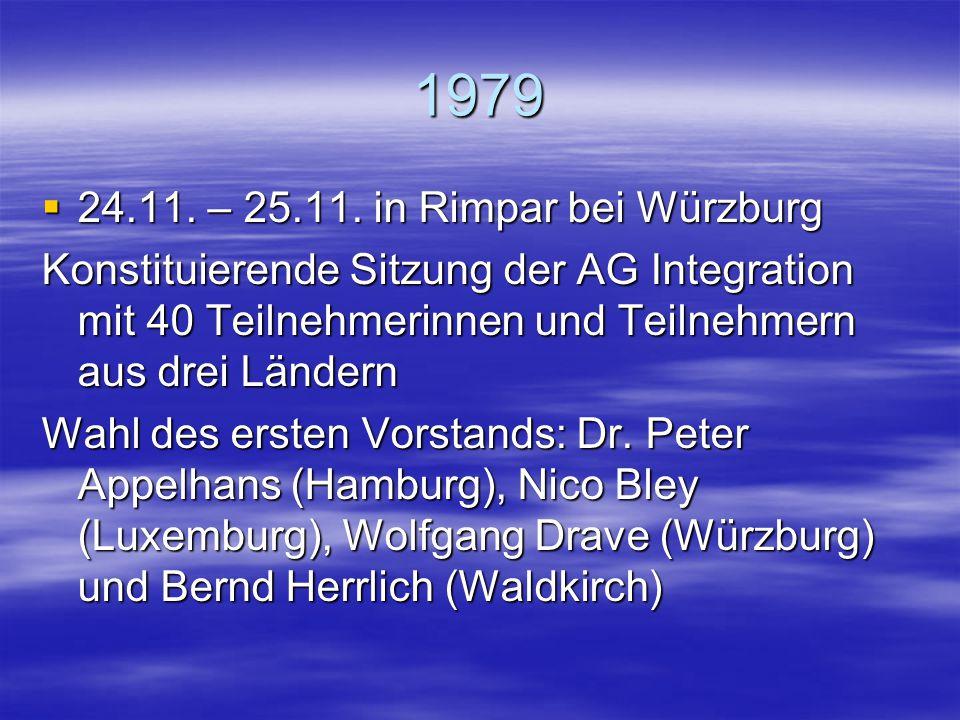 1979 24.11. – 25.11. in Rimpar bei Würzburg