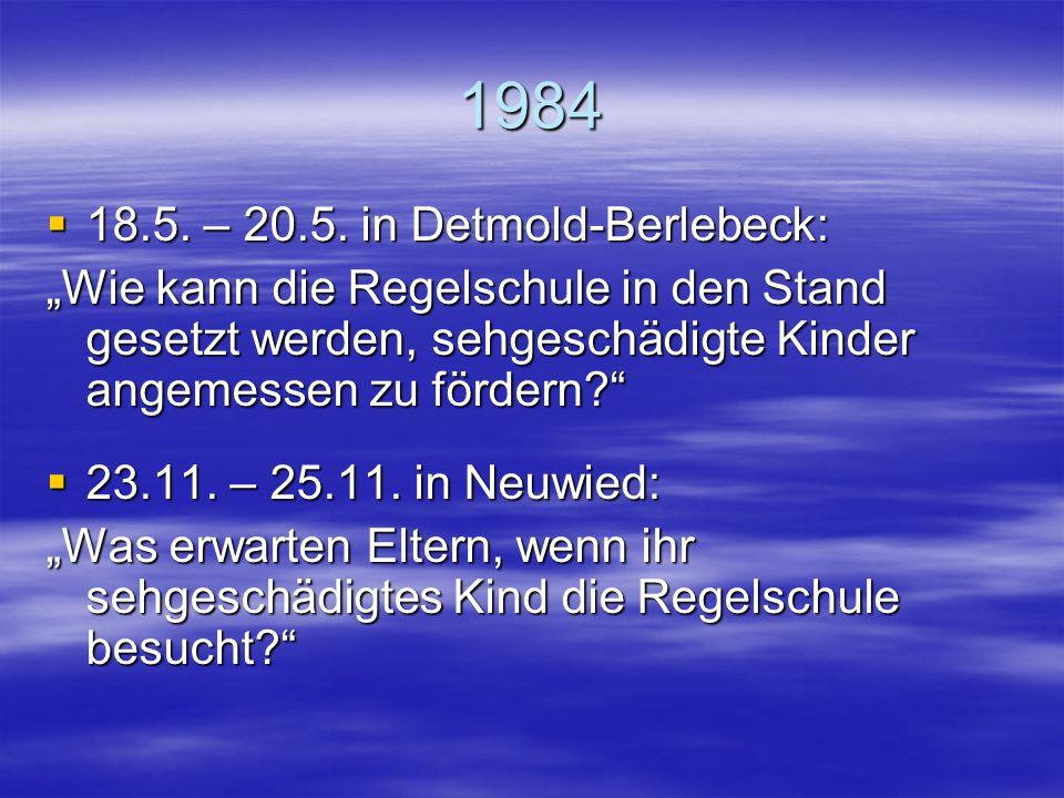 1984 18.5. – 20.5. in Detmold-Berlebeck: