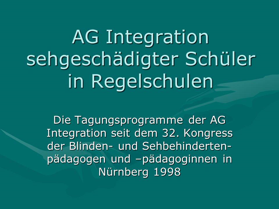 AG Integration sehgeschädigter Schüler in Regelschulen