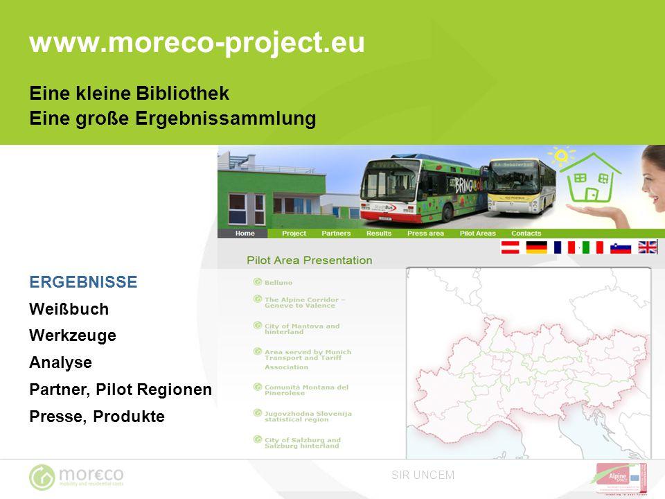 www.moreco-project.eu Eine kleine Bibliothek Eine große Ergebnissammlung. ERGEBNISSE. Weißbuch. Werkzeuge.
