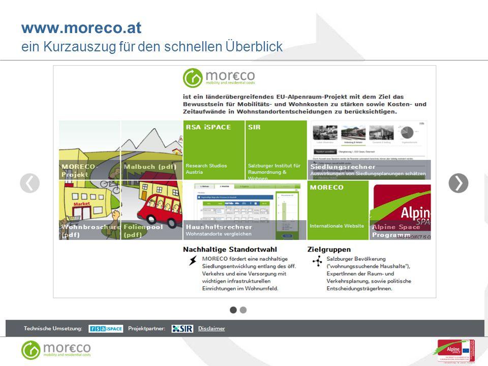 www.moreco.at ein Kurzauszug für den schnellen Überblick