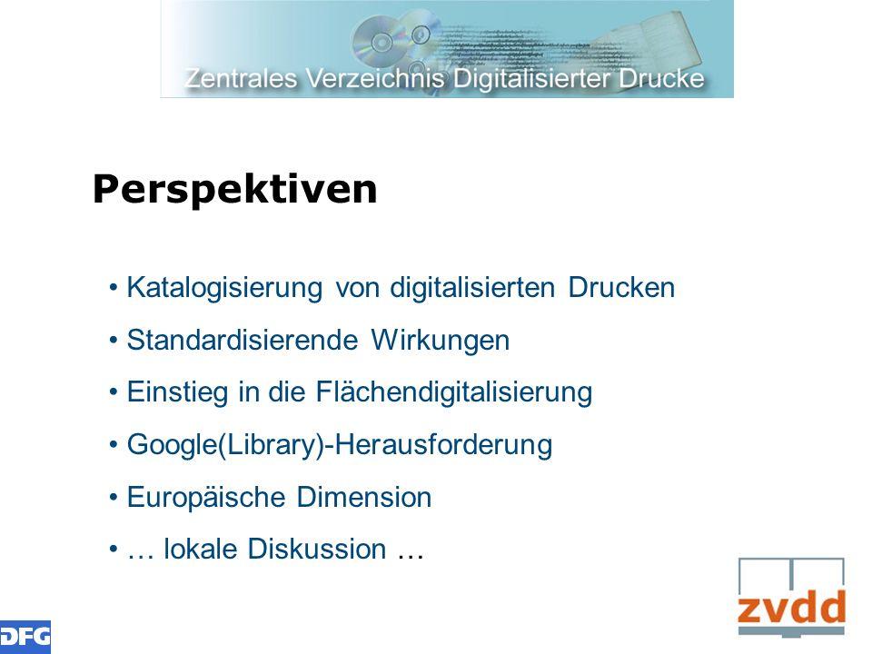 Perspektiven Katalogisierung von digitalisierten Drucken