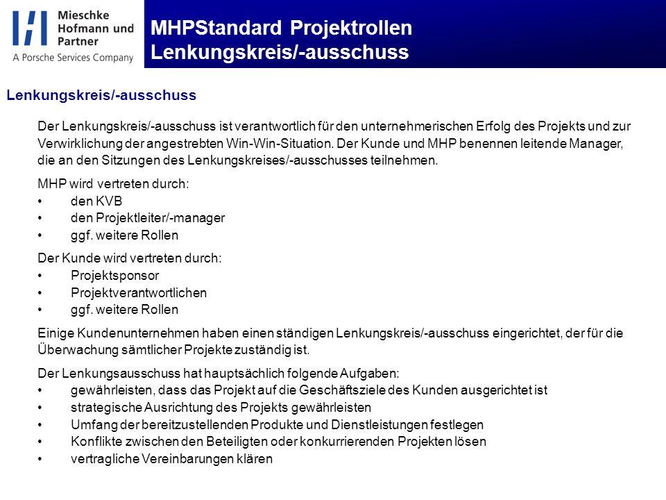 MHPStandard Projektrollen Lenkungskreis/-ausschuss