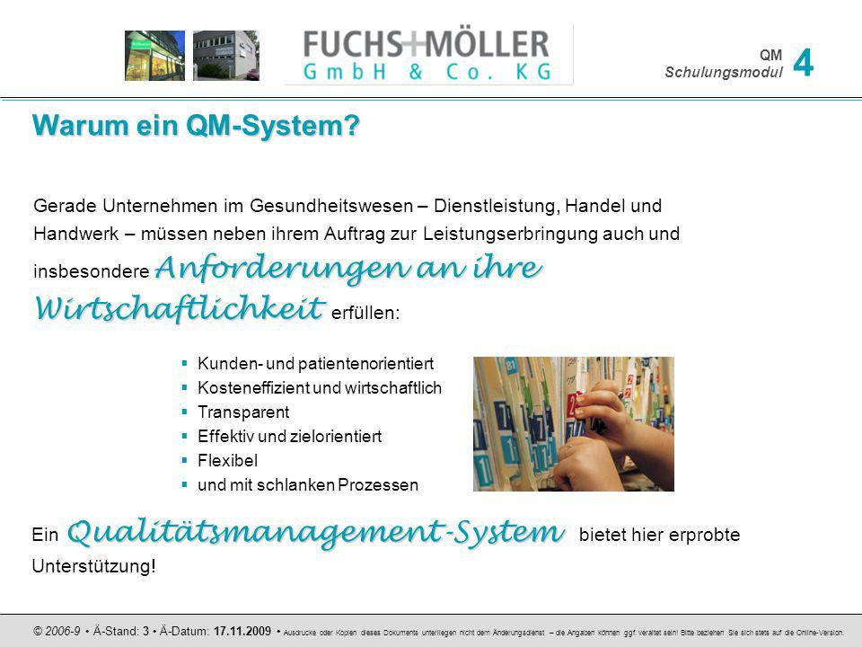 Warum ein QM-System