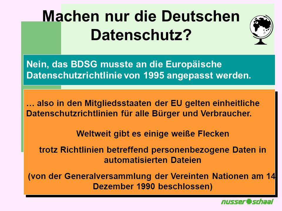 Machen nur die Deutschen Datenschutz