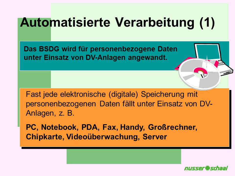 Automatisierte Verarbeitung (1)