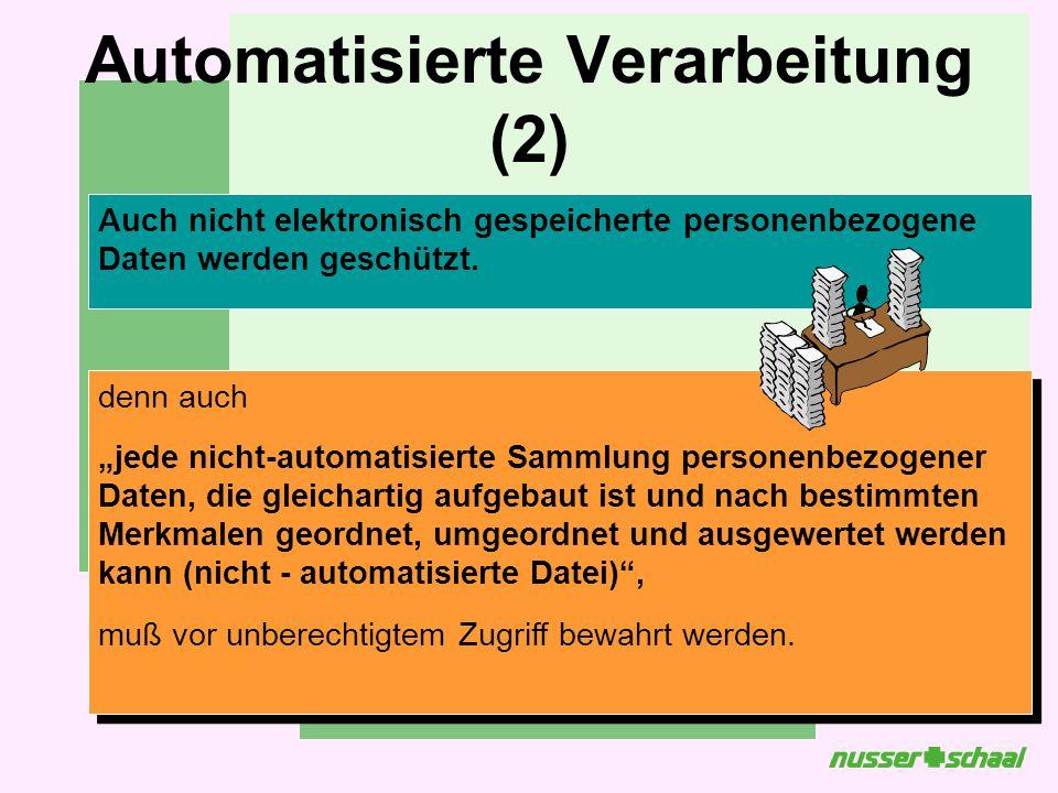 Automatisierte Verarbeitung (2)