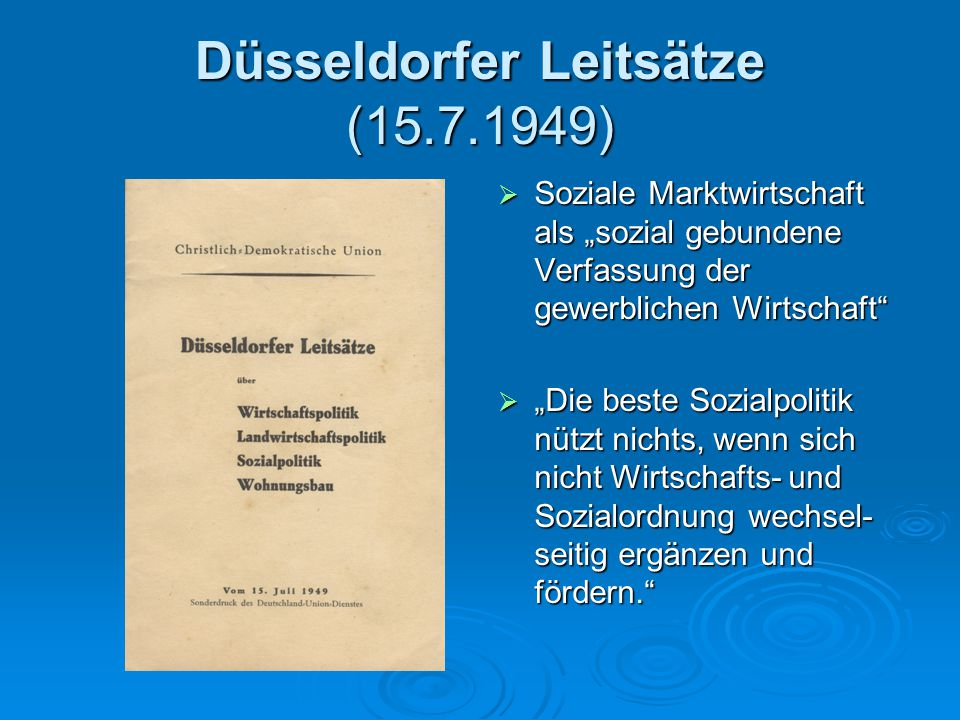 Düsseldorfer Leitsätze (15.7.1949)