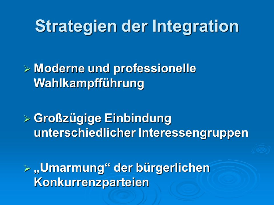 Strategien der Integration
