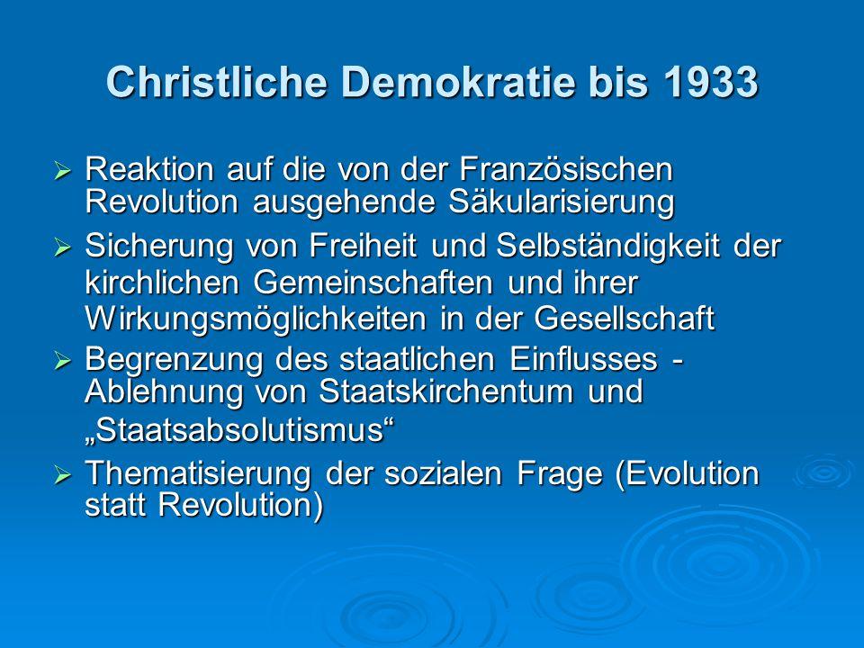 Christliche Demokratie bis 1933