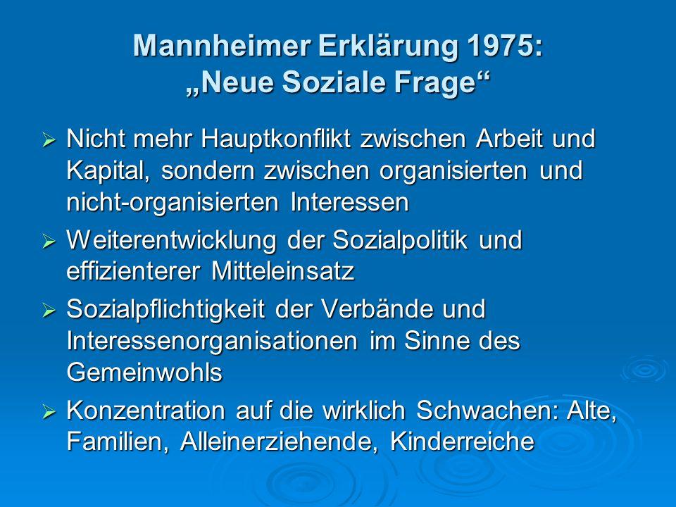 """Mannheimer Erklärung 1975: """"Neue Soziale Frage"""