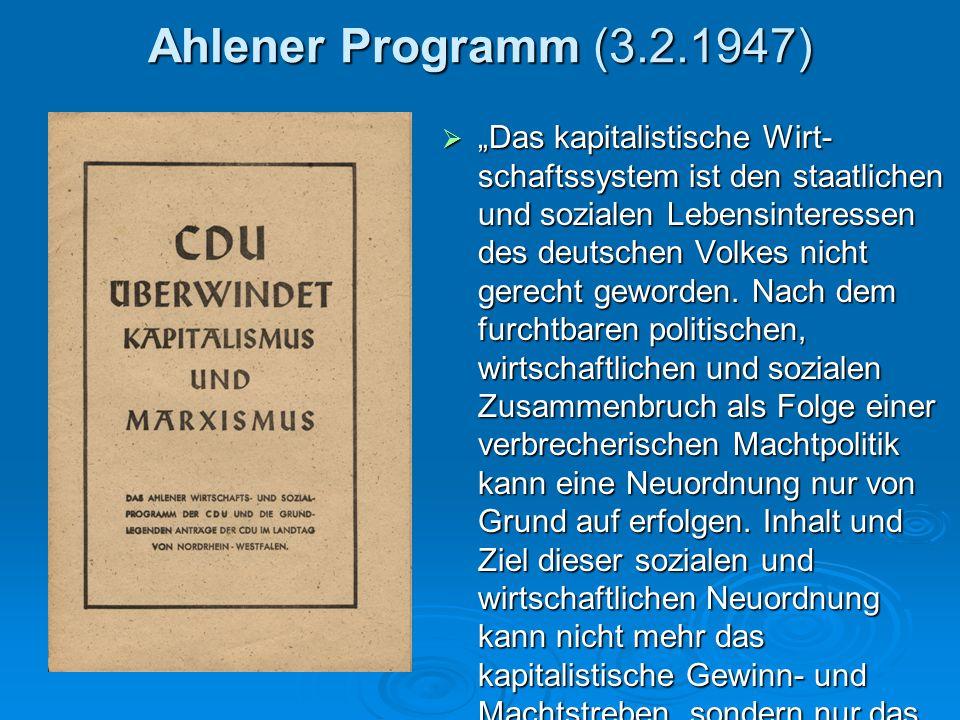 Ahlener Programm (3.2.1947)