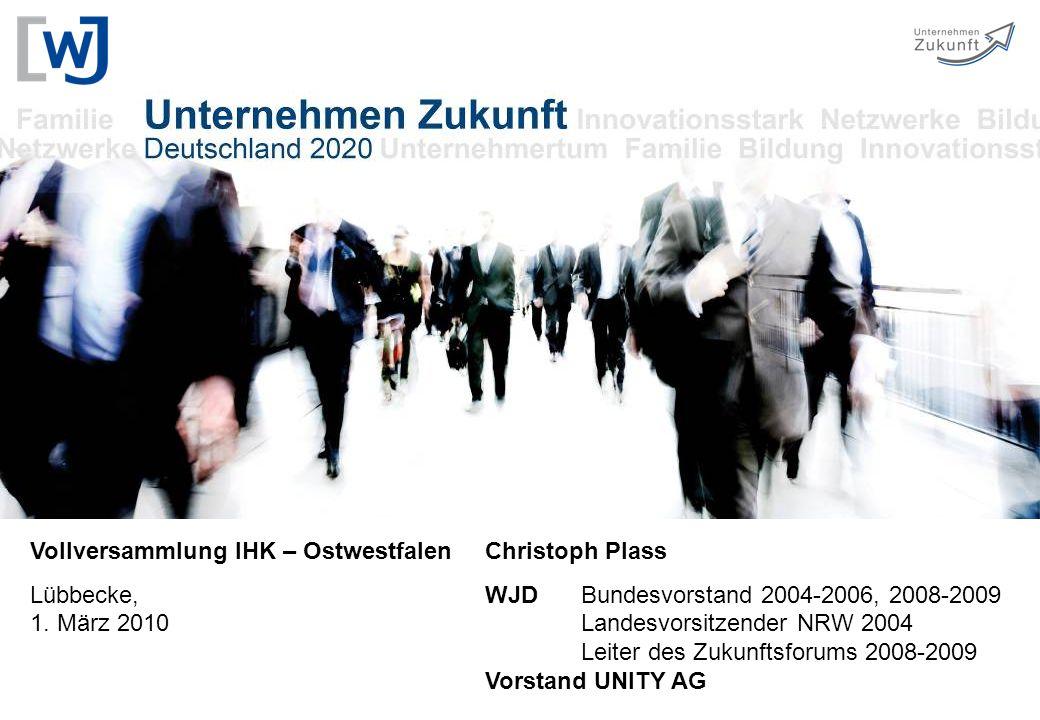 Vollversammlung IHK – Ostwestfalen Lübbecke, 1. März 2010