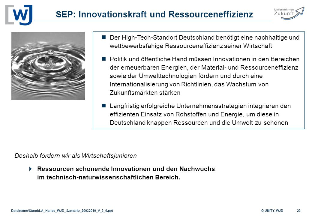SEP: Innovationskraft und Ressourceneffizienz