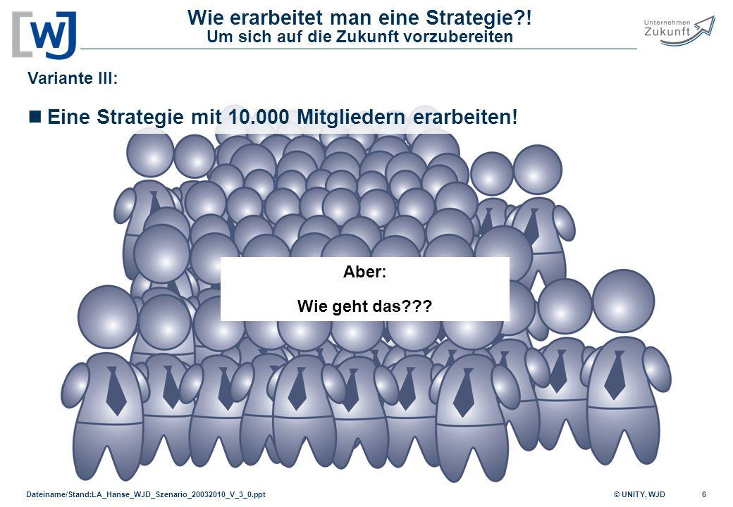 Eine Strategie mit 10.000 Mitgliedern erarbeiten!