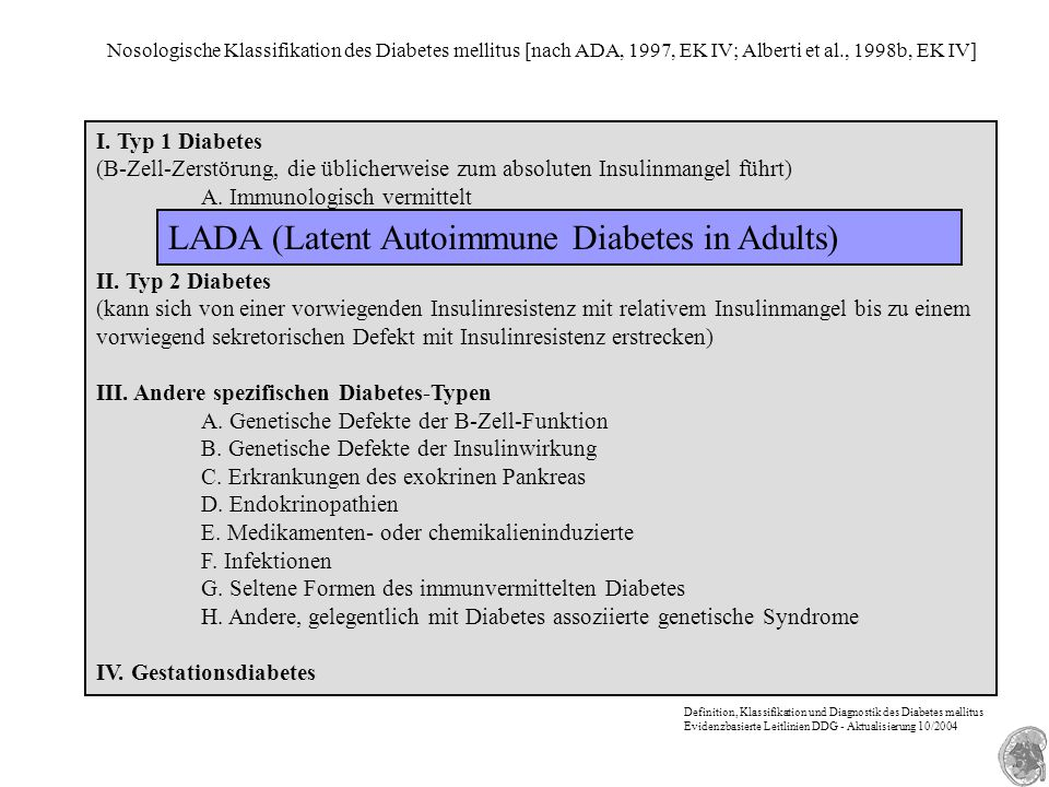 LADA (Latent Autoimmune Diabetes in Adults)