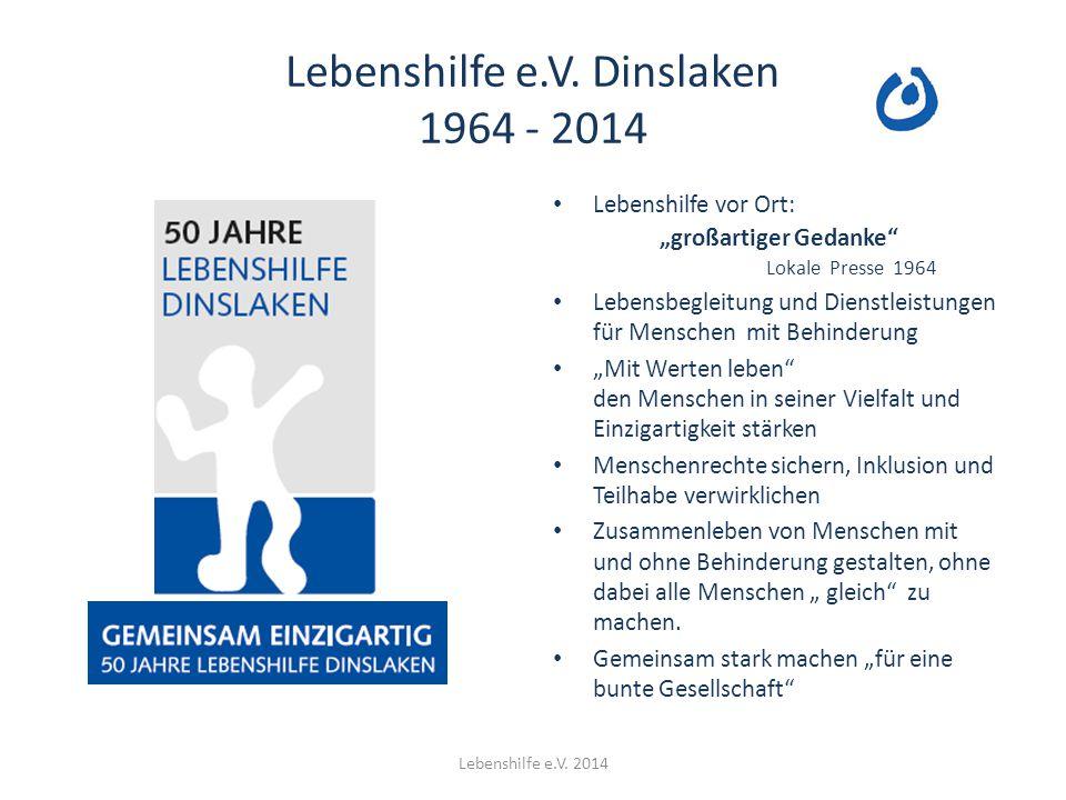 Lebenshilfe e.V. Dinslaken 1964 - 2014