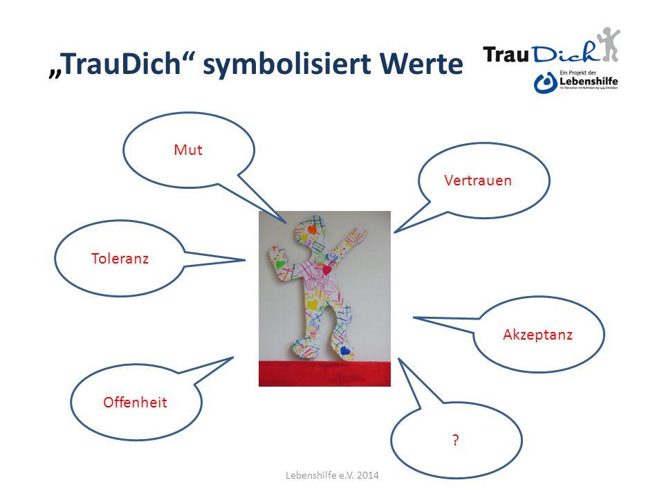 """""""TrauDich symbolisiert Werte"""