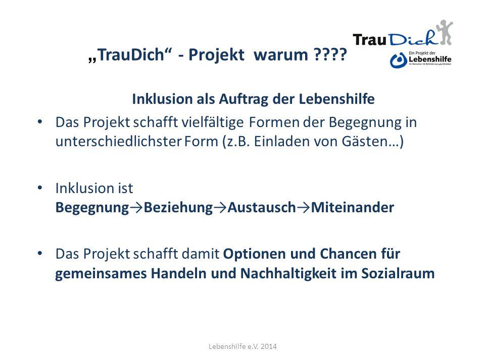 """""""TrauDich - Projekt warum"""