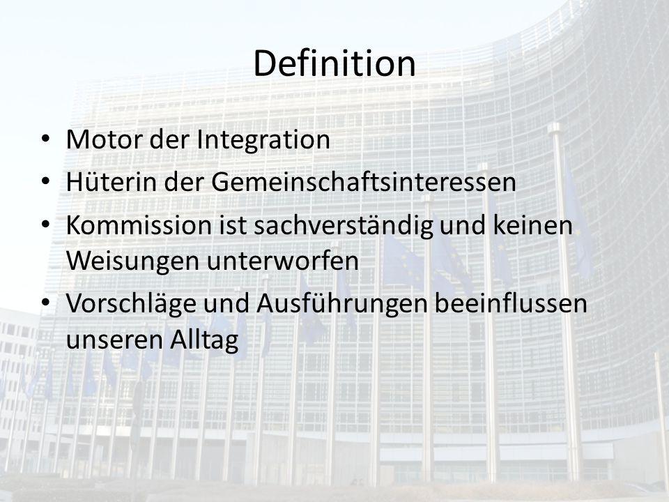 Definition Motor der Integration Hüterin der Gemeinschaftsinteressen