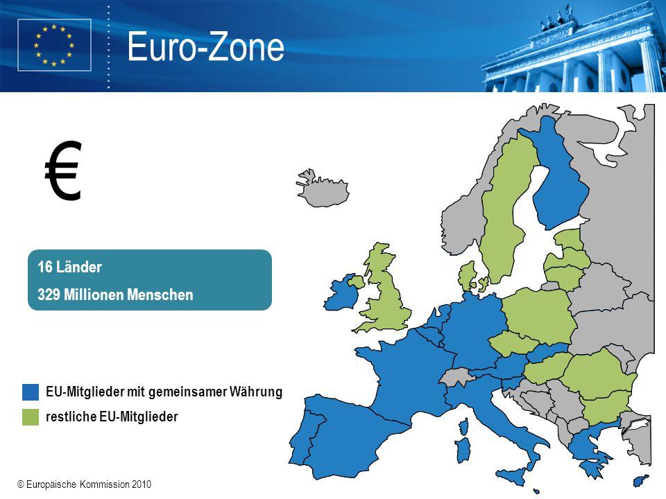 € Euro-Zone 16 Länder 329 Millionen Menschen