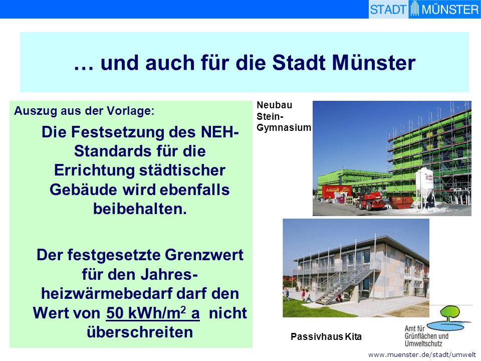 … und auch für die Stadt Münster