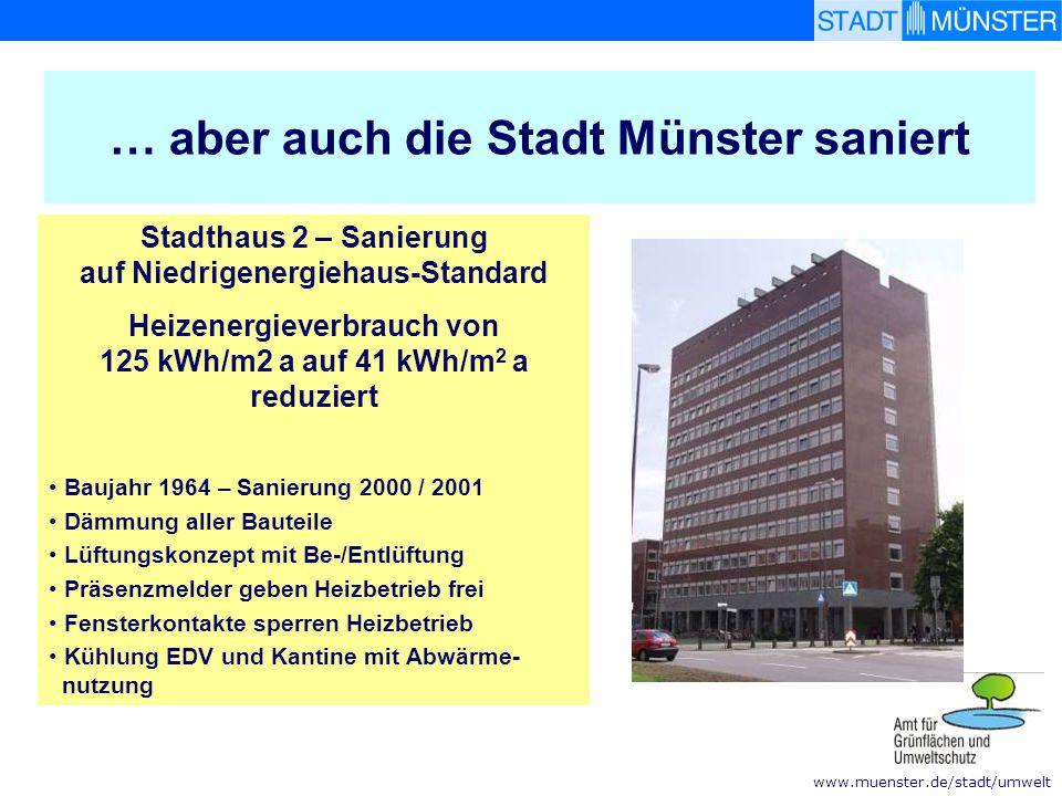 … aber auch die Stadt Münster saniert