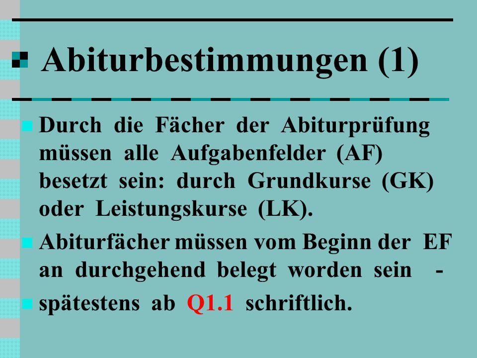 Abiturbestimmungen (1)
