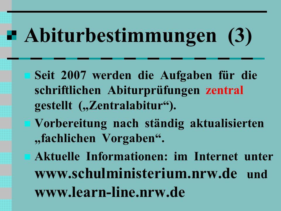 Abiturbestimmungen (3)