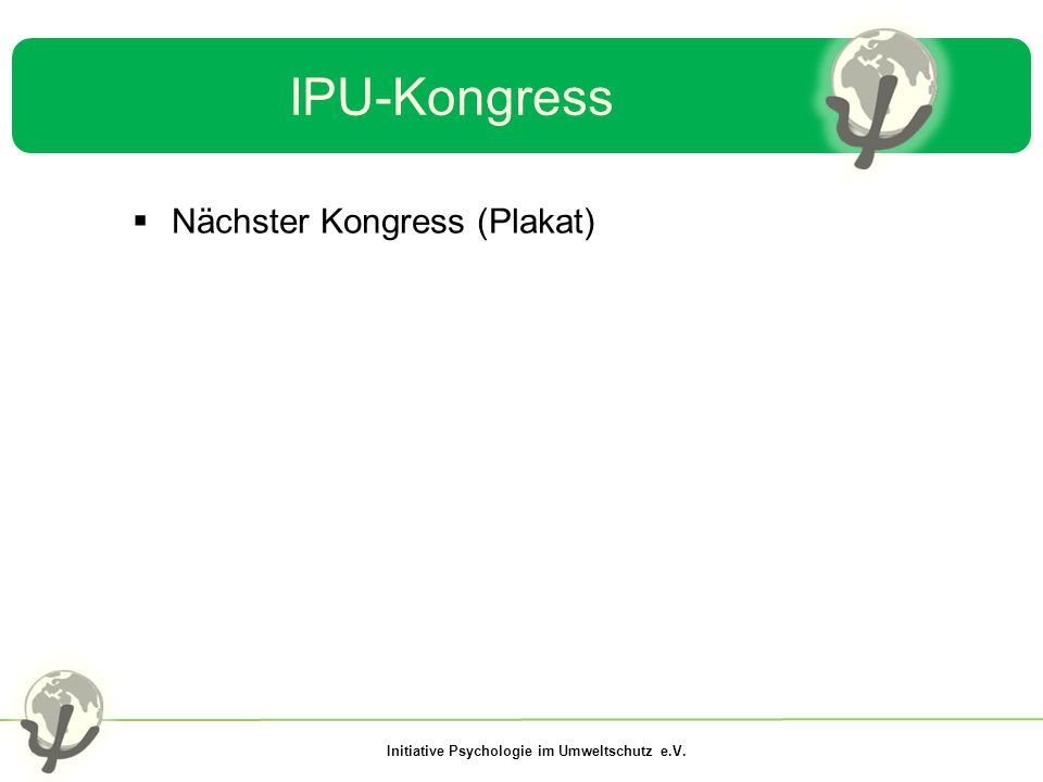 IPU-Kongress Nächster Kongress (Plakat)