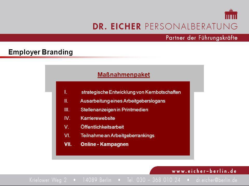 Employer Branding Maßnahmenpaket