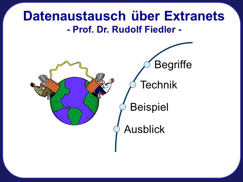 Datenaustausch über Extranets - Prof. Dr. Rudolf Fiedler -